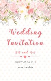 粉色清新浪漫婚礼邀请函H5