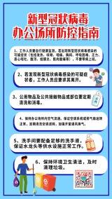 蓝色武汉疫情企业商家复工复产开业开工办公场所防控防护防疫指南宣传海报