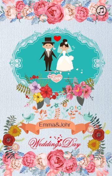 婚礼邀请涵-简易手绘