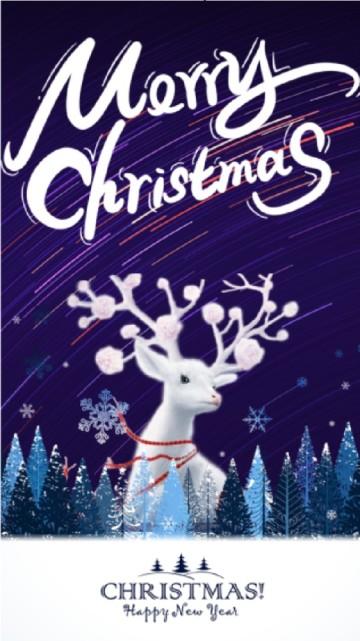 蓝色圣诞节聚会派对活动邀请函视频