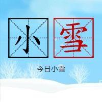 简约文艺传统二十四节气小雪微信公众号小图