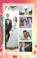 粉色浪漫风格情侣周年纪念册宣传H5