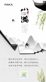 中国风小满二十四节气创意海报