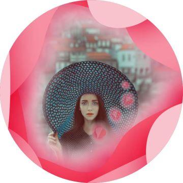 情人节粉色玫瑰社交头像