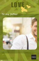 简洁大气父亲(可替换为母亲)节、生日贺卡、相册、活动邀请函