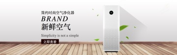 时尚简约净化器电商banner