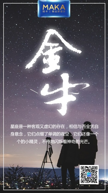 星座浪漫通用宣传海报