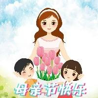 5.12母亲节卡通可爱风格蓝色母亲节宣传活微信次条封面图