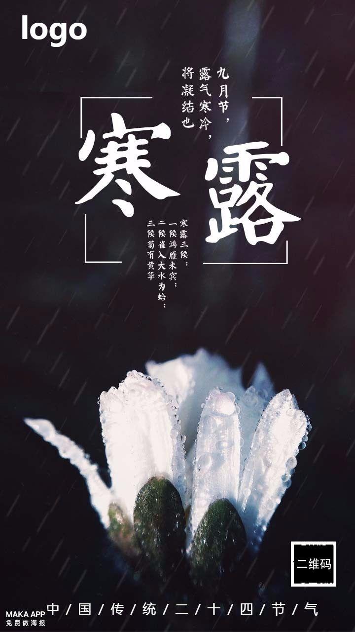 寒露 二十四节气海报