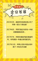 黄色卡通风互联网招聘H5