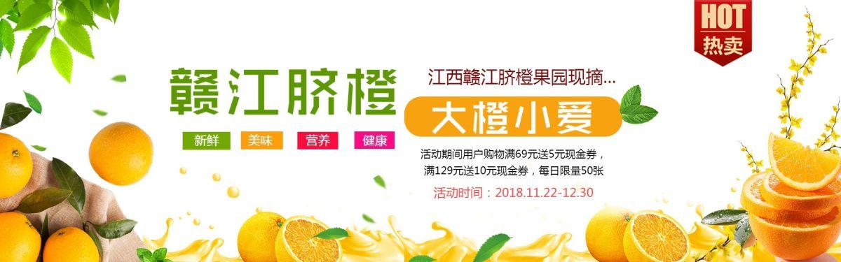 热销赣江脐橙鲜果商品店铺Banner