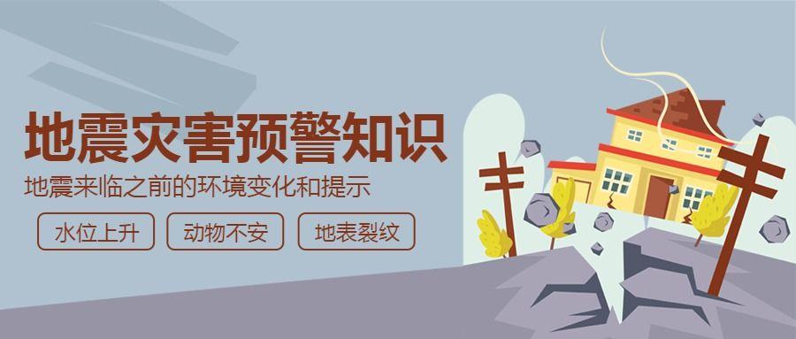 纪念唐山大地震常识普及简约扁平公众号封面
