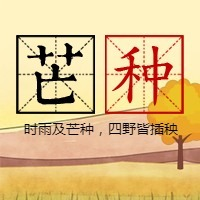 简约文艺传统二十四节气芒种微信公众号小图