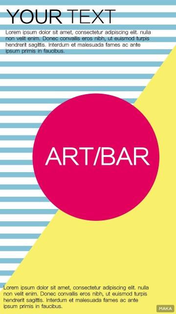 艺术酒吧宣传海报