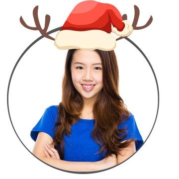 可爱圣诞帽萌趣挂件社交素材微信头像
