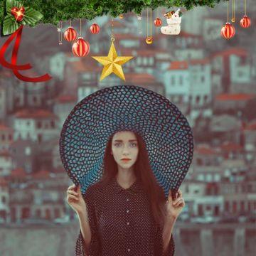 圣诞节平安夜卡通可爱节日装饰挂件微信头像