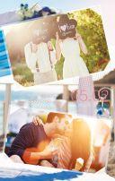 海&婚礼 清新风格 蓝绿色调 适合婚礼请柬&邀请函