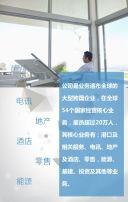 杂志风大气商务企业宣传介绍蓝色简约