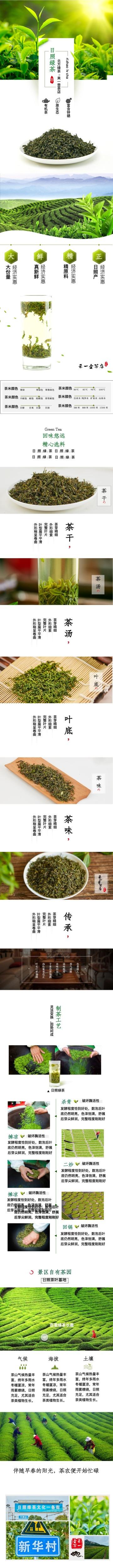 绿色健康茶叶电商详情图