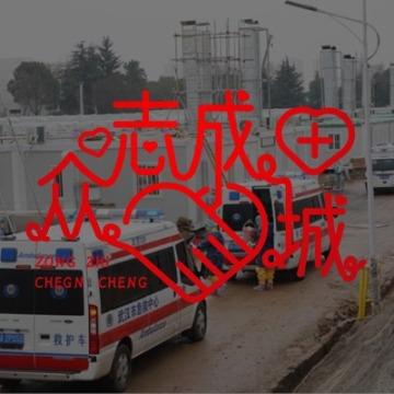 文字设计助力武汉众志成城微信头像框