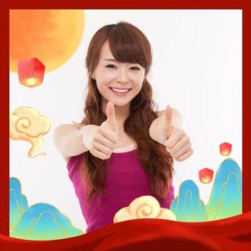 十一国庆节祖国生日快乐简约通用可爱头像框
