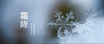 干净简约节气霜降微信素材