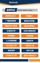 蓝色简约大学/职校/高等院校招生简章