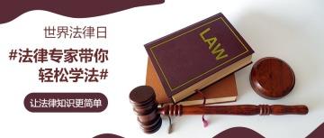 简约风世界法律日公众号首图