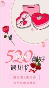 粉色唯美浪漫个人520表白宣传视频
