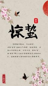 惊蛰中国风24节气传统文化宣传海报模板