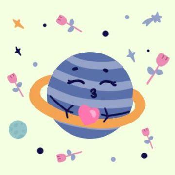 星球玫瑰宇宙爱心情侣头像