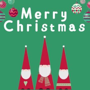 圣诞节活动宣传推广话题互动分享红色卡通简约大气通用微信公众号封面小图