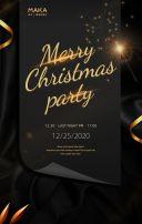 高端黑金圣诞节企业活动邀请函通用邀请函H5