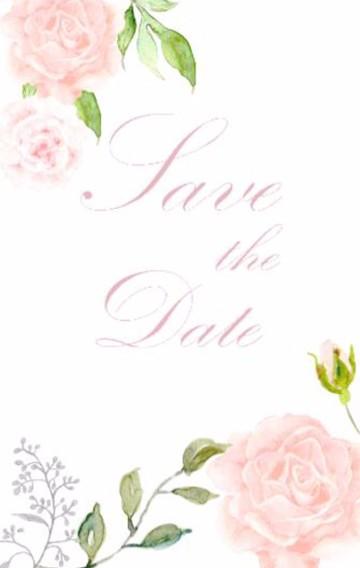 粉色花朵小清新婚礼邀请函唯美浪漫请柬