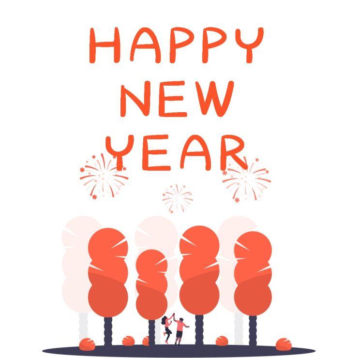 【新年次图】微信公众号封面小图简约卡通祝福话题通用