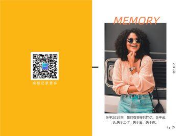 橙色清新活泼个人摄影行业照相馆使用印刷2折页