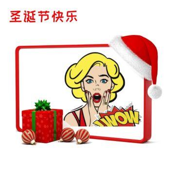 红色圣诞主题边框头像适合个性头像社交朋友圈封面