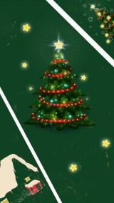 绿色圣诞节快乐手绘圣诞祝福卡片祝福贺卡