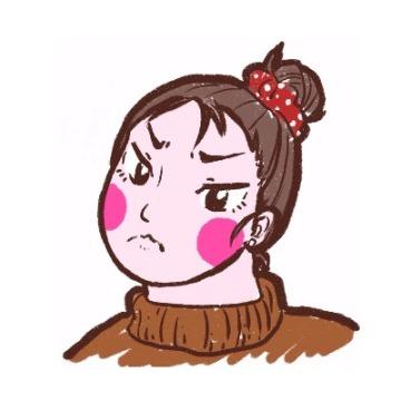 个性可爱手绘漫画红脸蛋女生头像