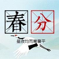 简约文艺传统二十四节气春分微信公众号小图