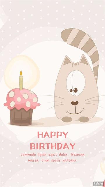 小狗可爱生日贺卡