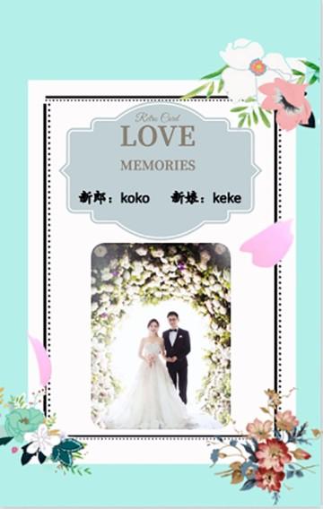 高端时尚婚礼邀请函婚纱写真纪念照展示