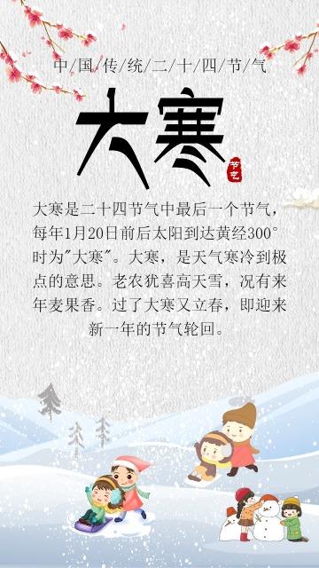 时尚大寒节日宣传海报