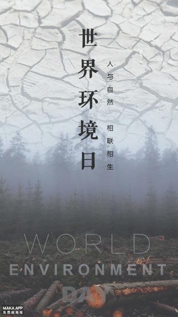世界环境日保护环境关注环境海报