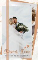 ins风大理石玫瑰金婚礼邀请函清新文艺浪漫唯美欧式简约轻奢高端时尚结婚请柬H5