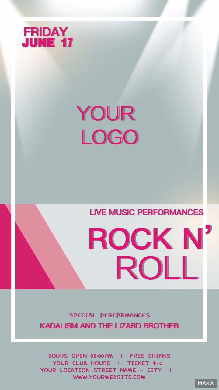 简约派对音乐节音乐会活动宣传海报