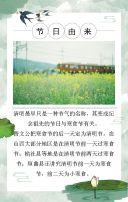 中国风简约清新清明节习俗普及/节日活动通用模板