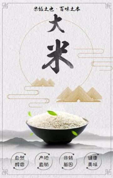 五谷杂粮之大米 古典中国风