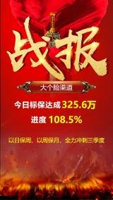红金炫酷销售贺报喜报海报模板