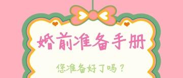 婚前准备手册类宣传粉色清新医院或情感类节目宣传文章封面头图